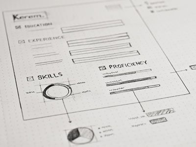 Inspiring UI Wireframe Sketches
