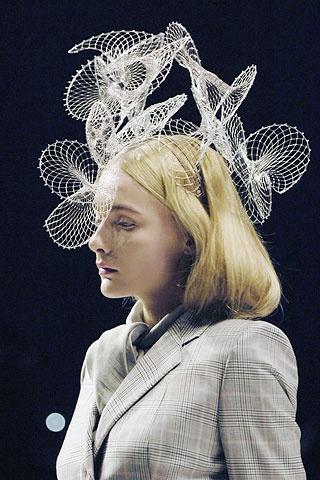 Fashion Architecture - complex structures; 3D sculptural headpiece