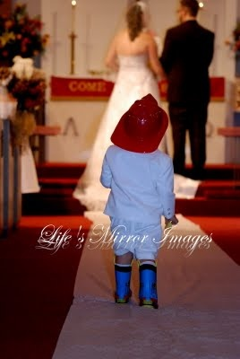 I Suggested The Ring Boy Walk Down The Isle In His Rain Boots And Fireman  Hat