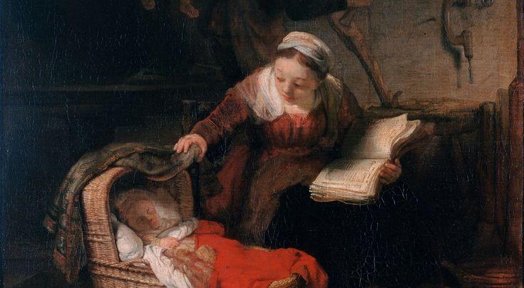 Złoty wiek: Holendrzy wynoszą obrazy z kościoła Rembrandt, Święta rodzina (fragment). Rewolucja Francuska przemianowała ów obraz na Gospodarstwo stolarza. Nic w tym dziwnego: religijne malarstwo Rembrandta opierało się na scenach życia codziennego i unikało patosu w takim samym stopniu co sztuka rodzajowa