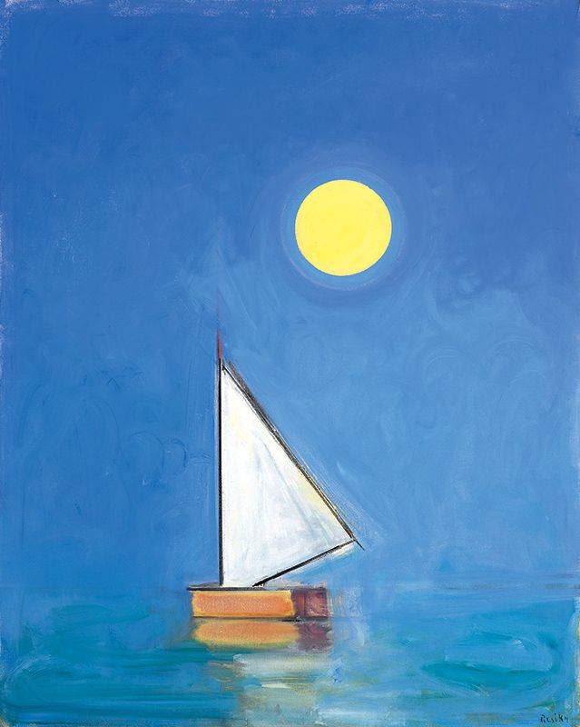 Paul Resika (American, b. 1928) Sail-Moon 2009
