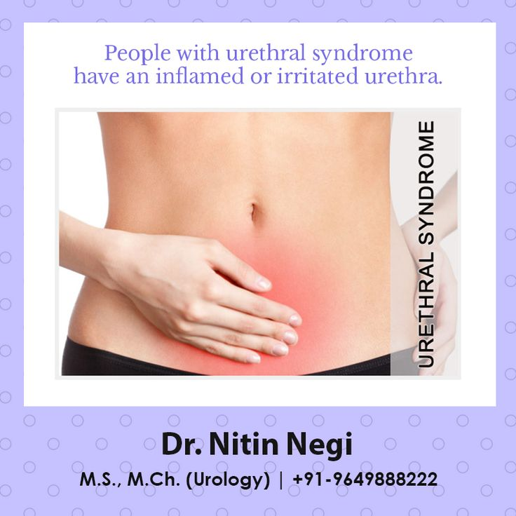 Urethral syndrome is also known as symptomatic abacteriuria. It has many of the same symptoms as urethritis, which is an infection and inflammation of the urethra. These symptoms include abdominal pain and frequent, painful urination. Both conditions cause irritation to your urethra. Dr Nitin Negi MCh, MS Urology Wireless: +91-9649888222 #drnitin #negi #ureterocele #neurogenic #bladder #dysfunction #nocturia #vesicoureteral #reflux #renal #calculi #hydronephrosis #urology #jaipur…