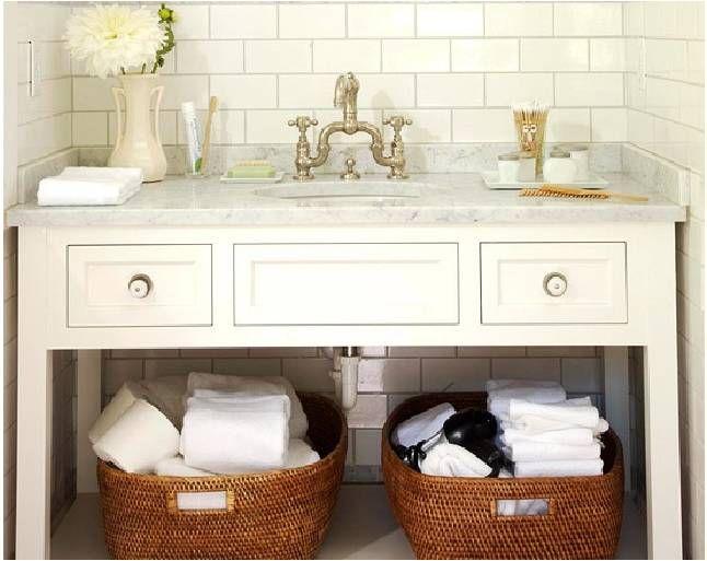 25+ melhores ideias de Cesta para guardar artigos de banheiro no Pinterest   -> Cesta Para Pia De Banheiro