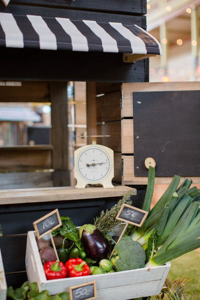 Our Farmers Market Cubby House made in Melbourne. Beautifully styled black and white cubby house.