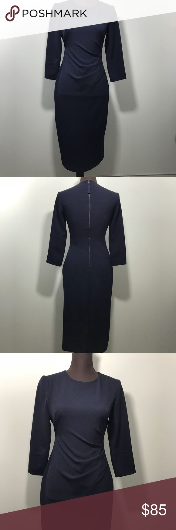 Maggy London Ruched Zipper Back Dress Maggy London Ruched Zipper Back Dress...This beautiful cut Dress is perfect for many events (weddings, work,etc.). Offers considered. Maggy London Dresses