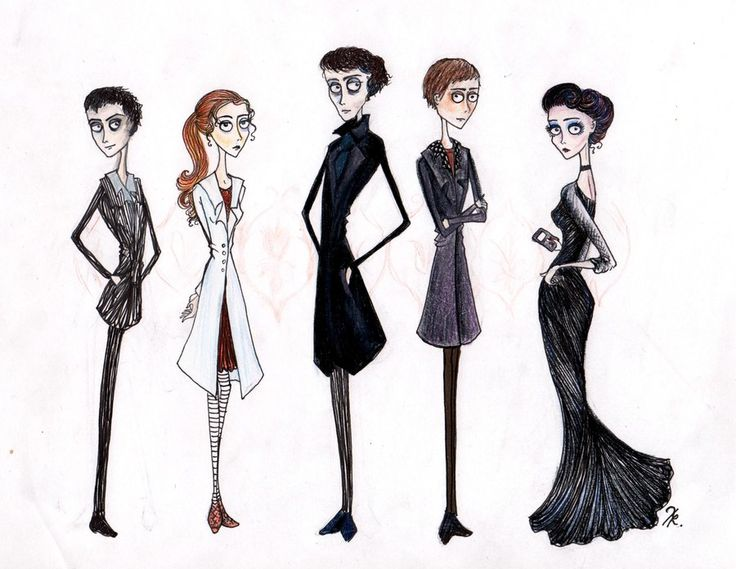Sherlock does look a bit undead. Tim Burtonned Sherlock Characters by ~La-Chapeliere-Folle on deviantART