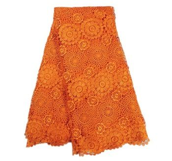ivory lace over orange tablecloth | ... lace fabric,Fashion orange water soluble lace fabric,African Cord lace