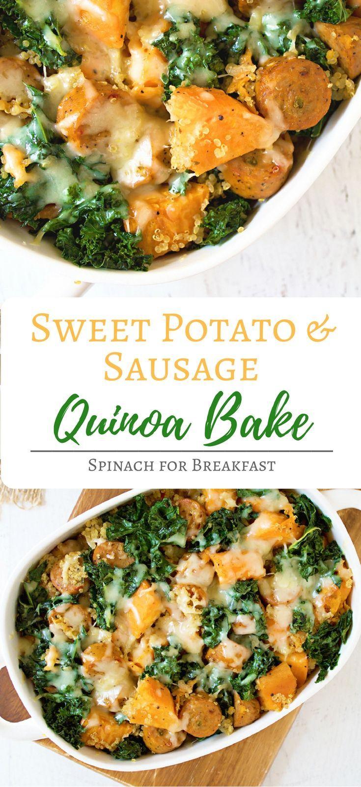 Sweet Potato and Sausage Quinoa Bake