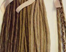 20 SE unique terminés Dreads synthétiques légers moyen tresse Blonde de Dreadlock brun cheveux Extension personnalisée