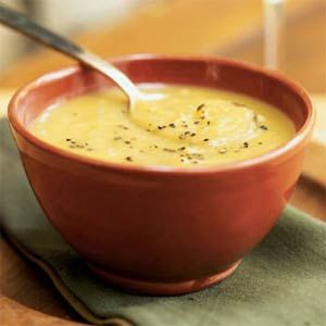 Butternut Squash-Leek Soup | MyRecipes.com #vegetable #myplate