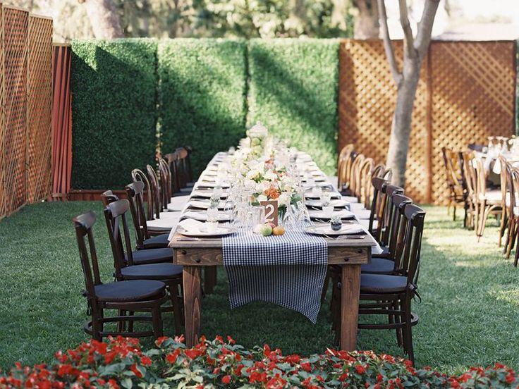 At-Home Wedding Reception Planning Secrets | Photo by: Caroline Tran Photography | TheKnot.com