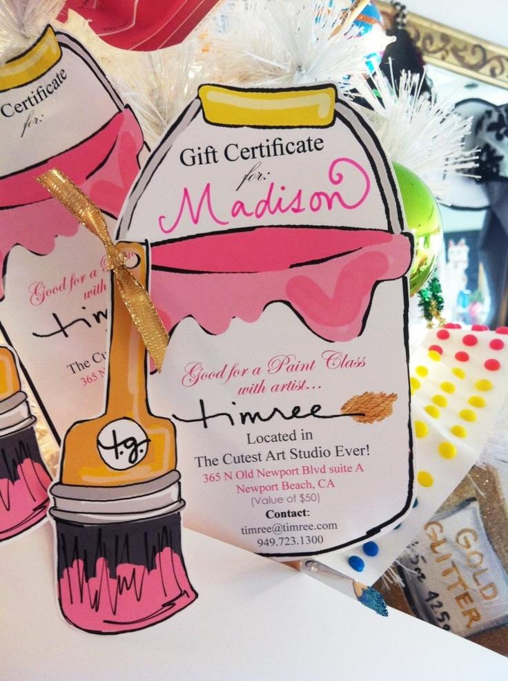 Paint party invitation idea