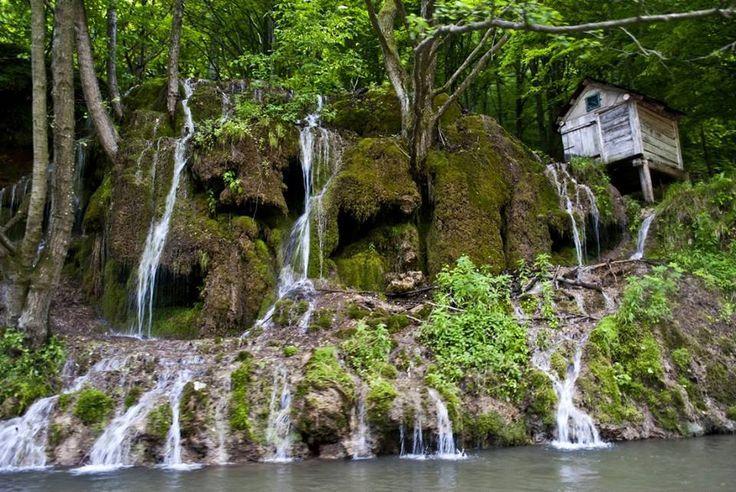 Waterfall in national park Cheile Nerei -  Beuşniţa
