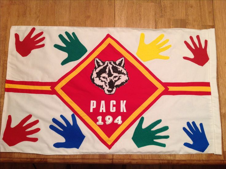 Cubscout wolf den flag