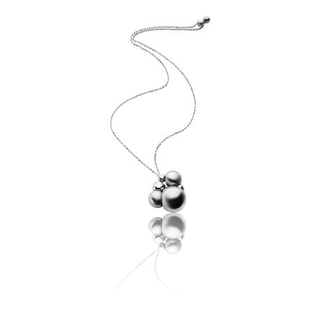 Multi-wear #necklace with polished and satin steel spheres.   #fashion #accessories #jewels