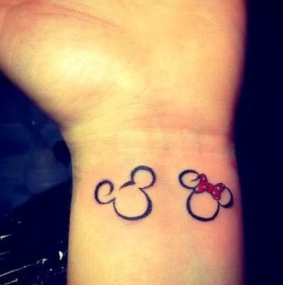 Could make this into a couple tattoo. Me, the Minnie, and Spencer, the Mickey.