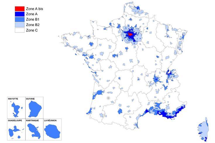 Nouvelles zones loi Duflot 2014 (future loi pinel)