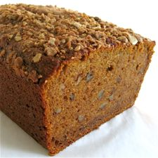 the best banana bread i have ever made hands down. sub maple syrup for the honey and leave out the jam, add extra walnuts