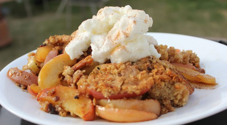 Cooking with Jax: Barbecued Apple Crisp