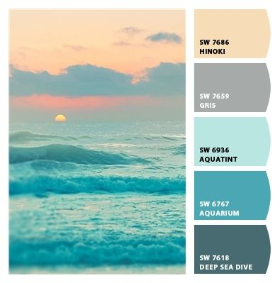 subdued ocean sunset muted blues cool tones palette greys grays peaches  blush baby blue powder blue. 17 Best ideas about Ocean Colors on Pinterest   Ocean color