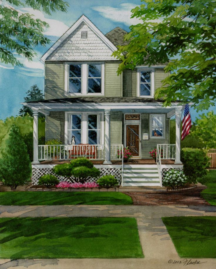 house portraits - Google Search