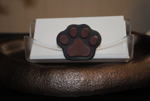 Business Card Holder Dog Print Paw Print Business Card