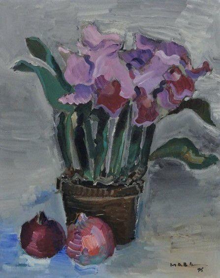 Orquídea Manabu Mabe (Japão/Brasil, 1924 – 1997) óleo sobre tela, 50 X 40 cm