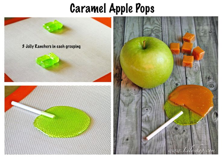 Homemade caramel apple pops!