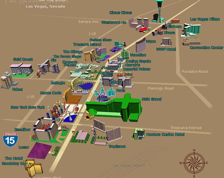 Karte von las vegas strip s Club - 2019 on