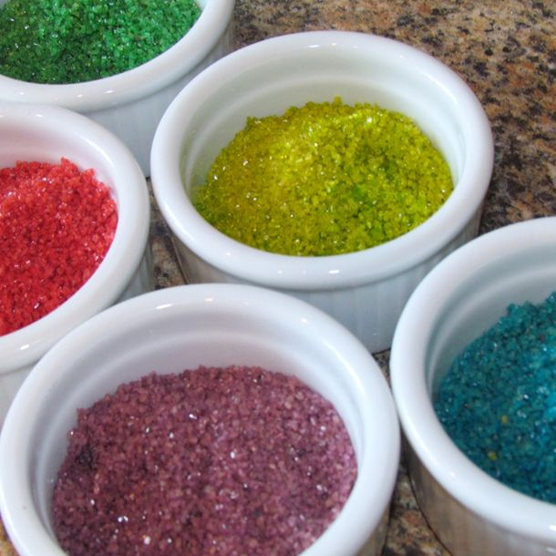 We have a tutorial on how you can make your own sprinkles you can use with many different desserts and treats.
