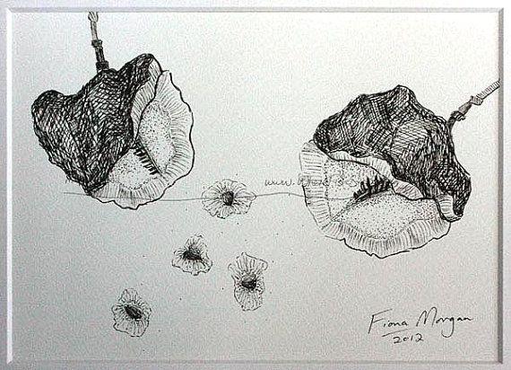 JACARANDA Nature illustration ORIGINAL Matted by WhereFishSing, $32.00