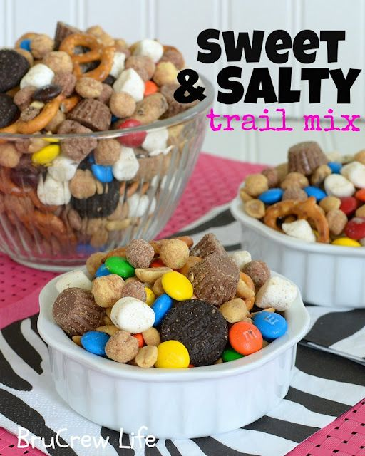 Best trail mix ever: All candy/good stuff and NO RAISINS :)