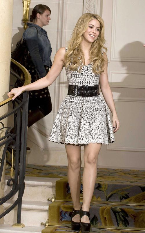Shakira (Pear) Dress with A line skirt