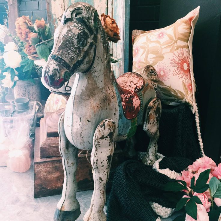 Beautiful old metal carousel horse #vintage #antique #old #rustic #rustichome #collectables #love #carousell #carousellhorse #rustavalon #antiquehomewares #vintagehomewares #interiors #interiordesigner #homedecor