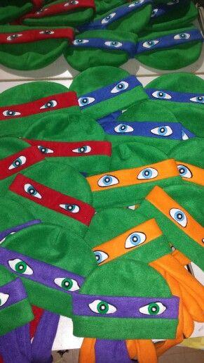 Ninja turtles fleece hats