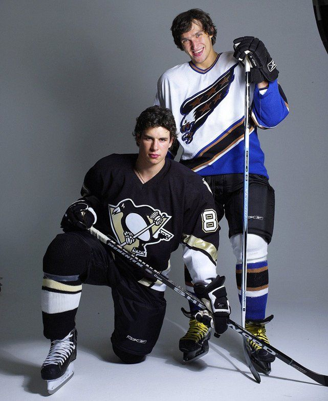 Sidney Crosby and Alexander Ovechkin as rookies in 2005. #NHL #Hockey