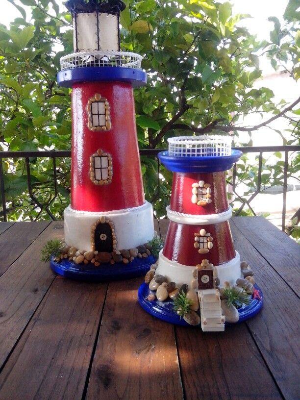 Lanterne Da Giardino Realizzate Con Vasi Di Terracotta