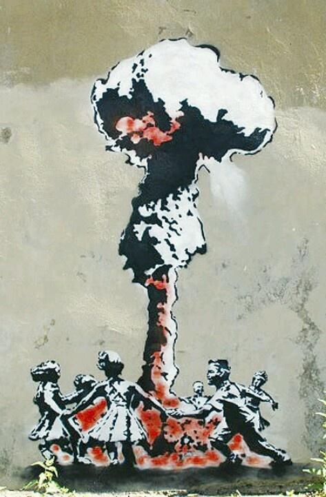 Stencil art, artist unknown