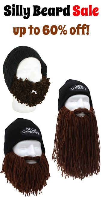 Silly Beard Sale: up to 60% off! {these beards would make the best White Elephant gifts, too!}