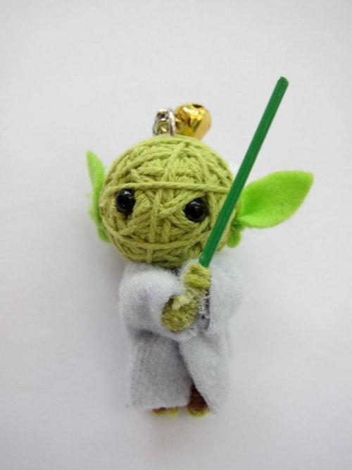 yoda string keychain :)