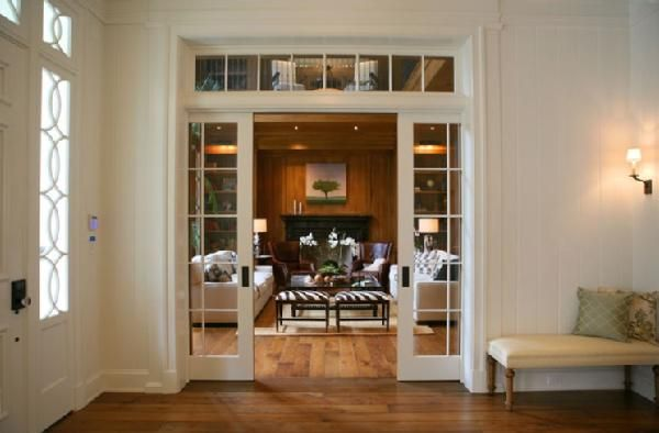 We are doing a lot of pocket doors in our house....glass pocket doors would be great for the piano room and Greg's office