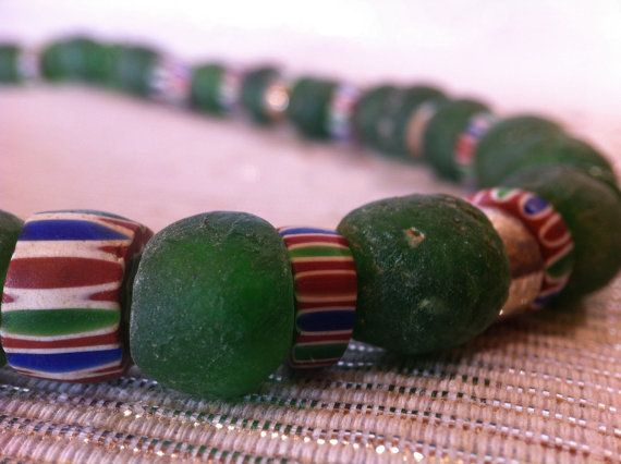 Antique Venetian Trade Beads necklace by monuandmonu on Etsy