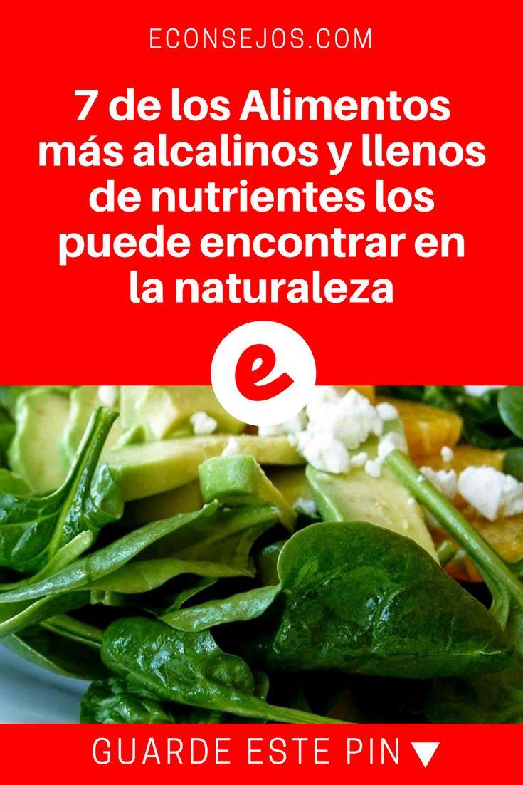 Alimentos alcalinos | 7 de los Alimentos más alcalinos y llenos de nutrientes los puede encontrar en la naturaleza | Conozca los 7 alimentos más alcalinos y comience a incorporarlos en su dieta. Todos son ricos en vitaminas, minerales y fibra.