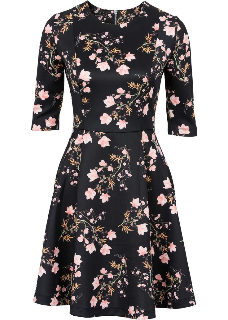 Scuba-Kleid schwarz geblümt - BODYFLIRT jetzt im Online Shop von bonprix.de ab € 29,99 bestellen. Verspieltes Scuba-Kleid der Marke BODYFLIRT mit ...