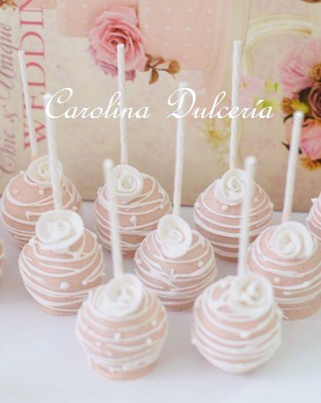 Pop cakes románticos, novios