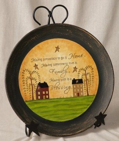 Having Someplace To Go - Wooden Decorative Plate & 74 best Painted Wooden Plates images on Pinterest | Primitive plates ...