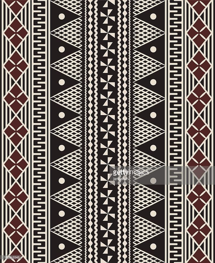 Vector Art : Fijian tapa pattern More