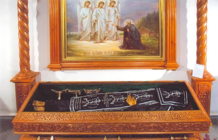 Holy relic of Saint Alexander Svirsky in Russia