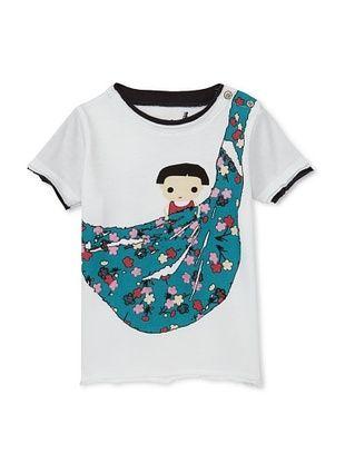 78% OFF Mini Shatsu Kid's Baby Sling Snap -T (White)