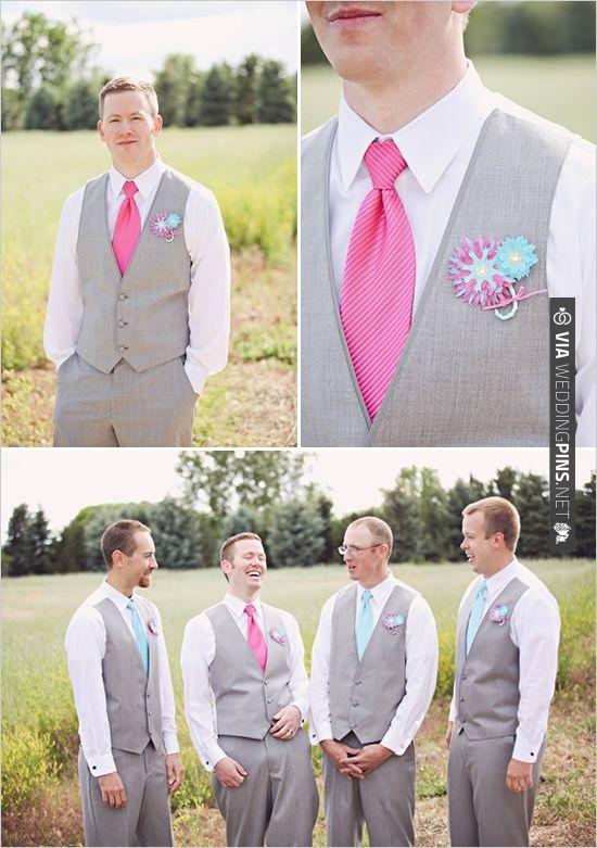 pink and gray groomsman ideas | CHECK OUT MORE IDEAS AT WEDDINGPINS.NET | #bridesmaids